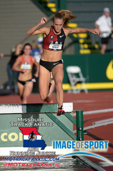 Jun 25, 2015; Eugene, OR, USA; Colleen Quigley runs 9:40.97 in a womens steeplechase heat to advance in the 2015 USA Championships at Hayward Field.